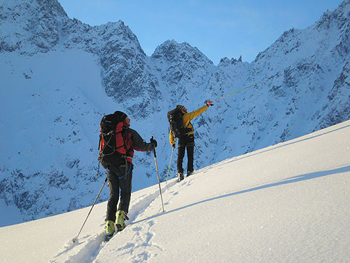 Ski-mountaineering in Gressoney