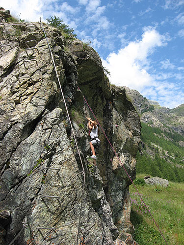 Ferrata in Gressoney's Valley