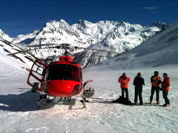 Heliski with Gressoney Alpin Guides